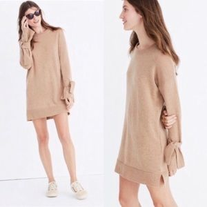 Madewell Sweater Dress with Tie Sleeves